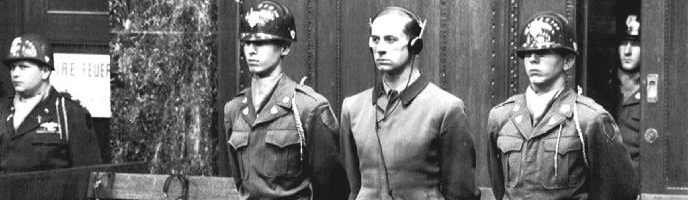 Nuremberg trial of Dr. Karl Brandt, Hitler's doctor and director of Nazi experiments on humans.