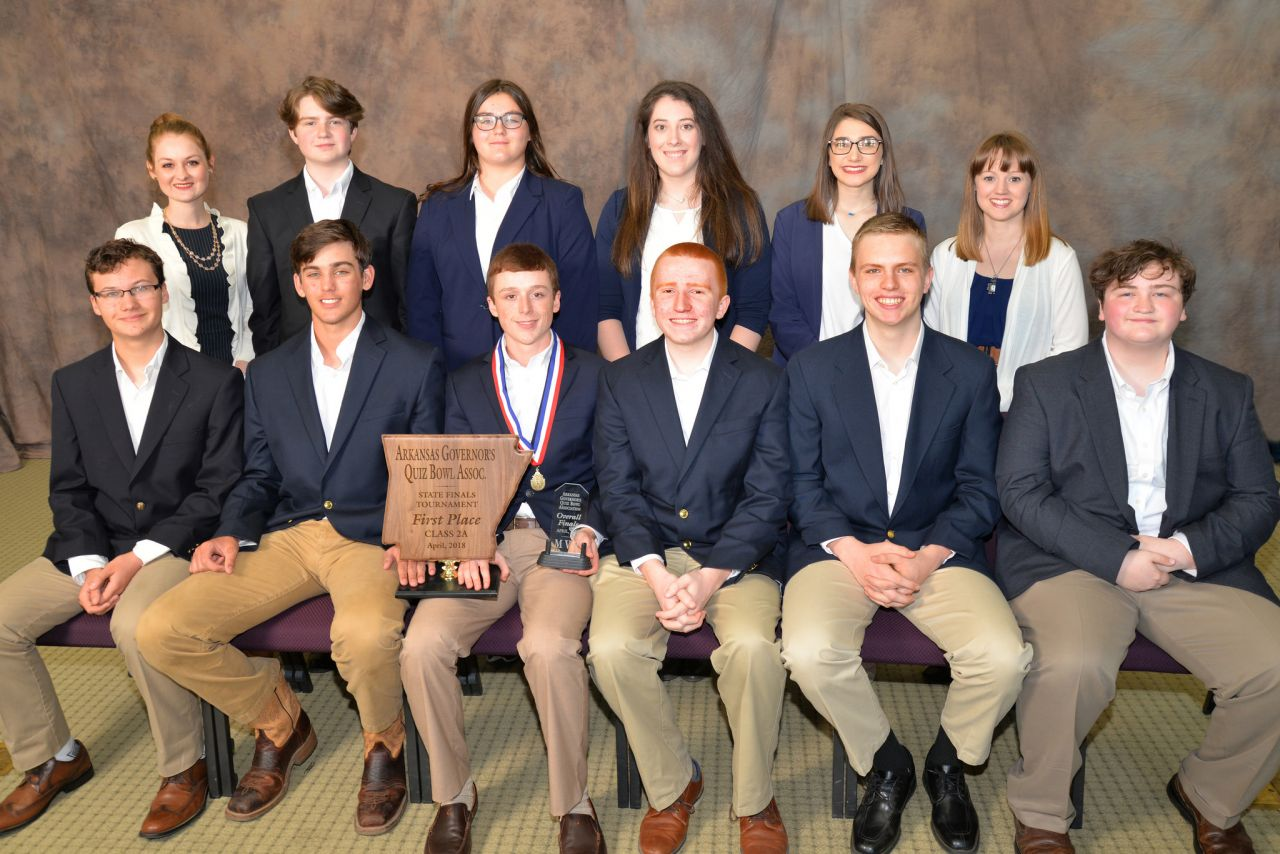 Conway Christian 2A Quiz Bowl Champs 2018