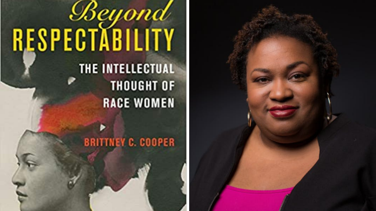 Beyond Respectability book cover and author Brittney Cooper's headshot