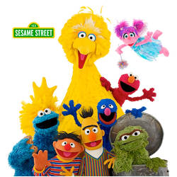 The Sesame Street cast of puppets