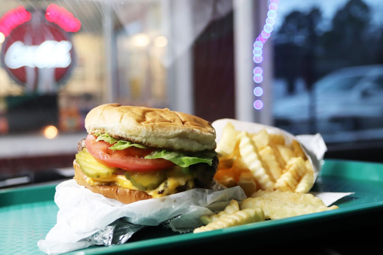 Garry's Slingblade Drive In Classic Cheeseburger and Crinkle Cut Fries