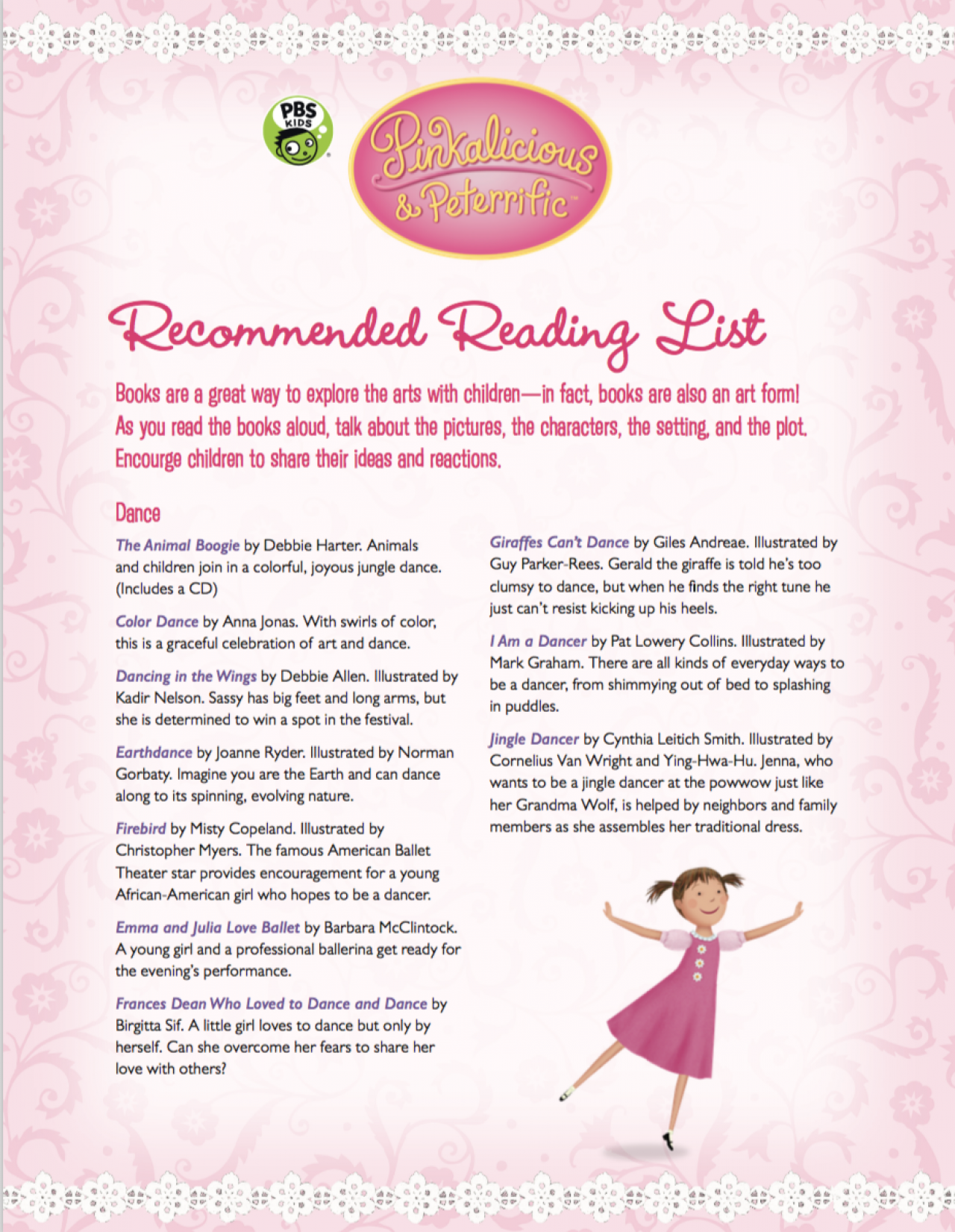 Pinkalicious Recommended Reading List