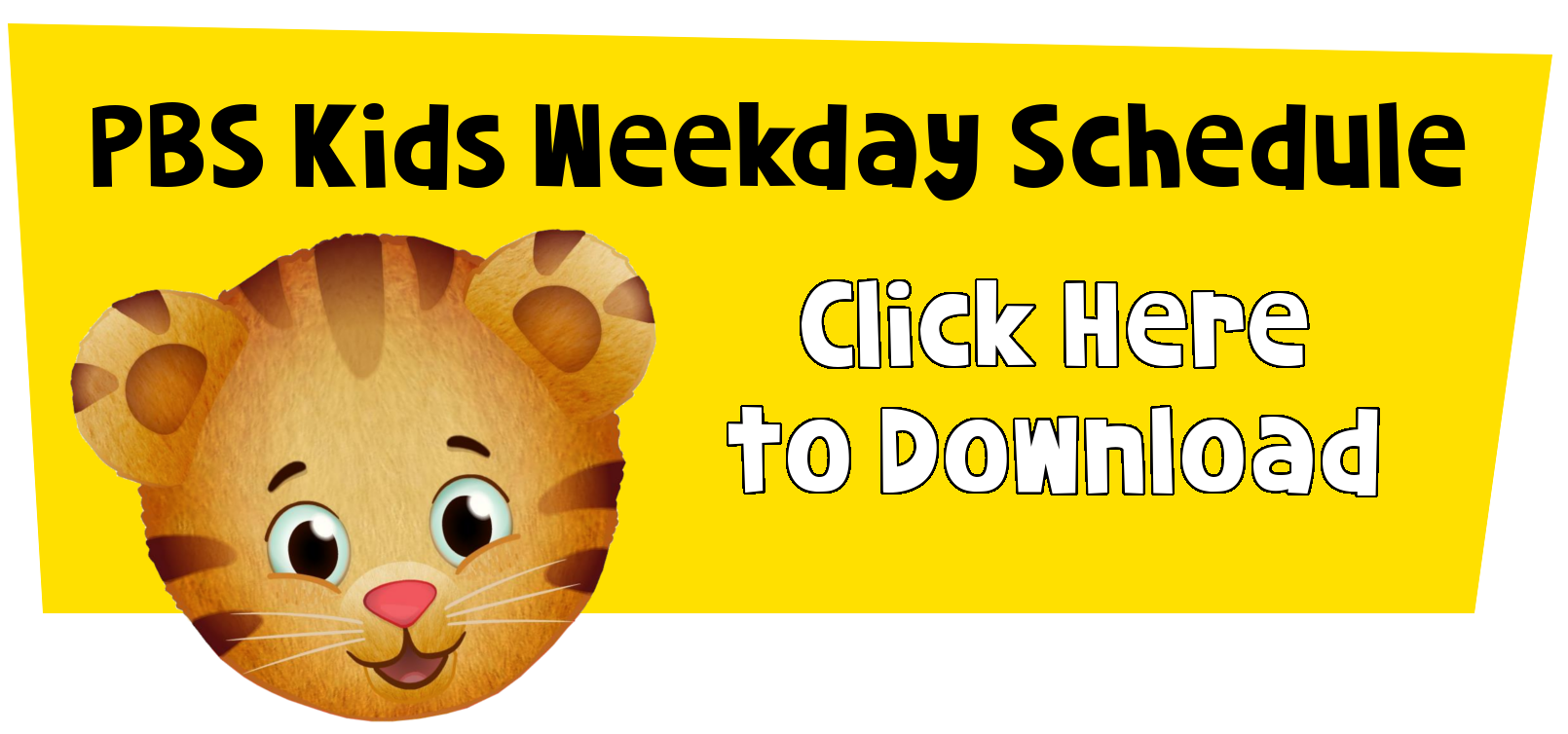 daniel tiger graphic to download schedule
