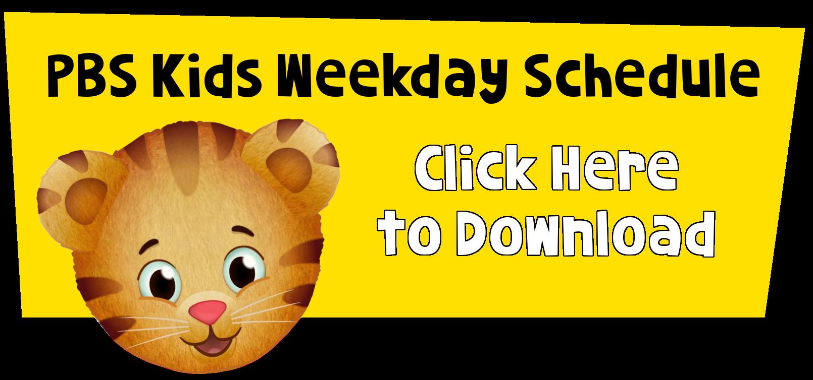 daniel tiger graphic to download schedule