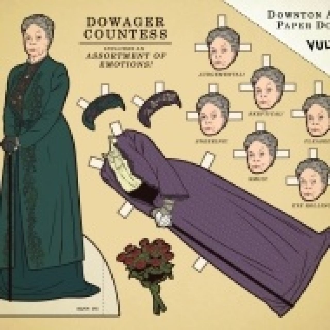 """Downton Abbey"" Paper Dolls from The Vulture"