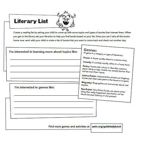 Literary List