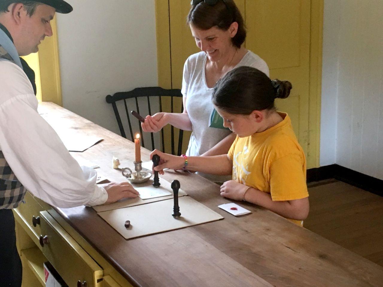 Historic Arkansas Museum Little Women Sealing Letters 2
