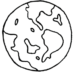 Drawing of Earth Globe
