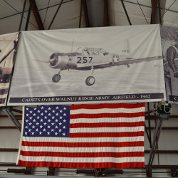 banner of world war two plane and united states flag