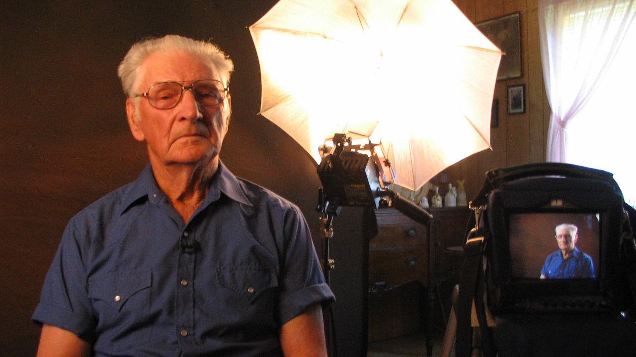 WWII Veteran Being Interviewed