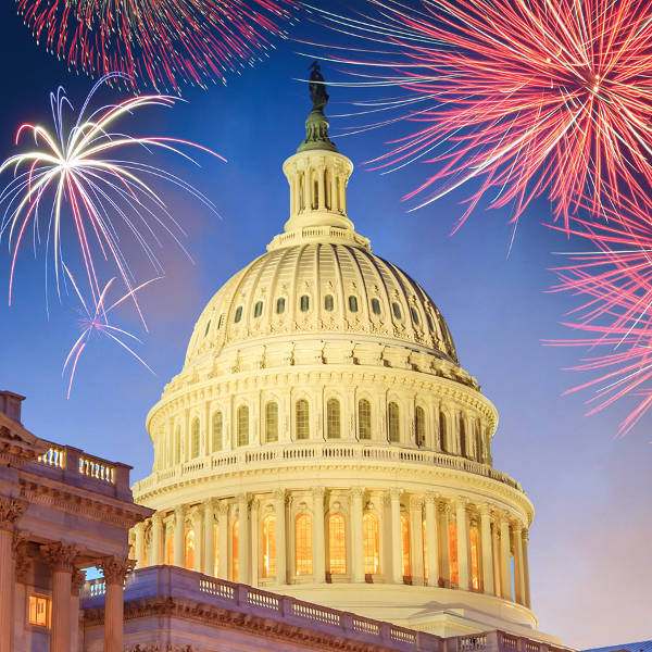 Capitol with Fireworks