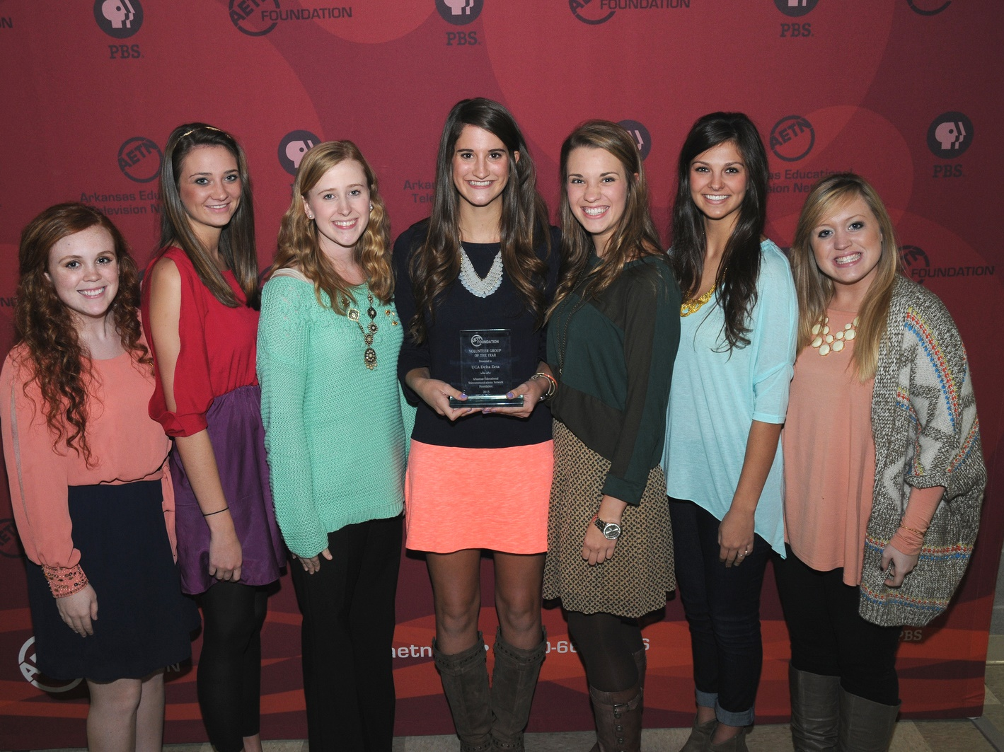 AETN Foundation Volunteer Group of the Year, UCA Delta Zeta