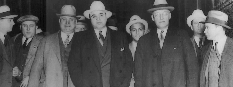 Al Capone with escorts