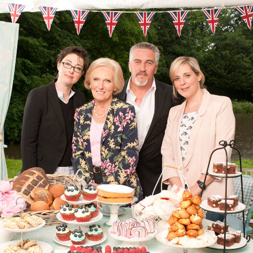 The cast of the great british cooking show