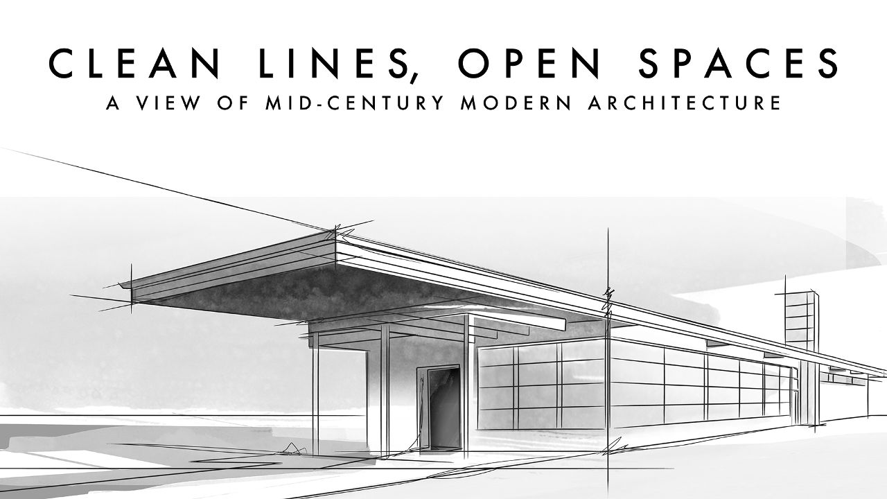 Mid-Century Modern Architectural Drawing