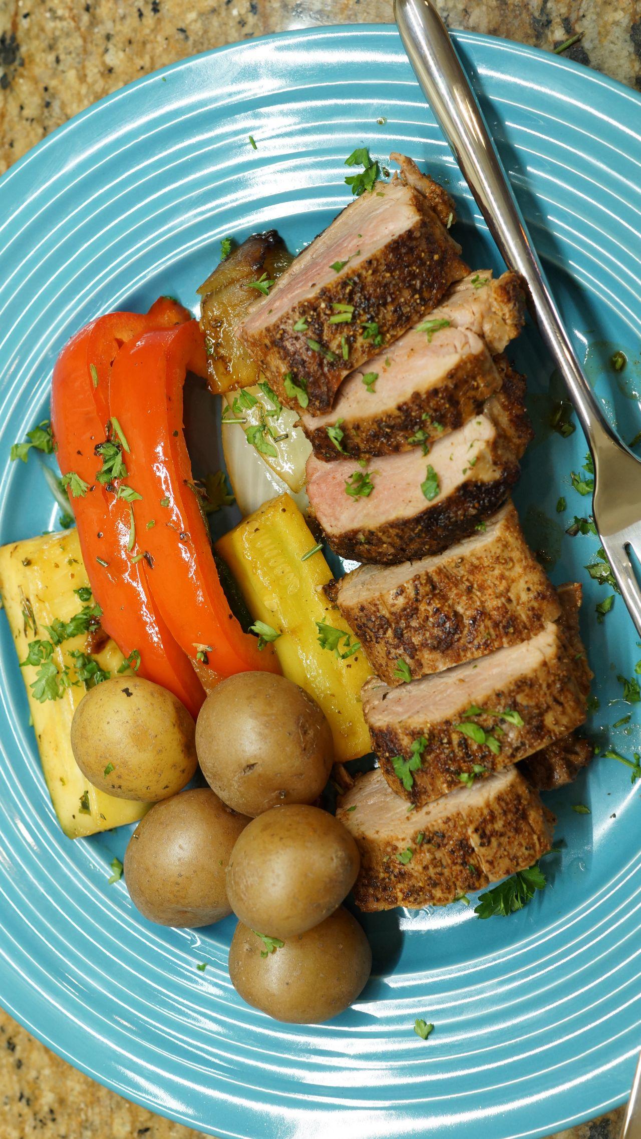Cook With Brooks Pork Tenderloin VegetableMedleyVertical