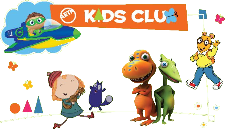 a collage of pbs kids art work