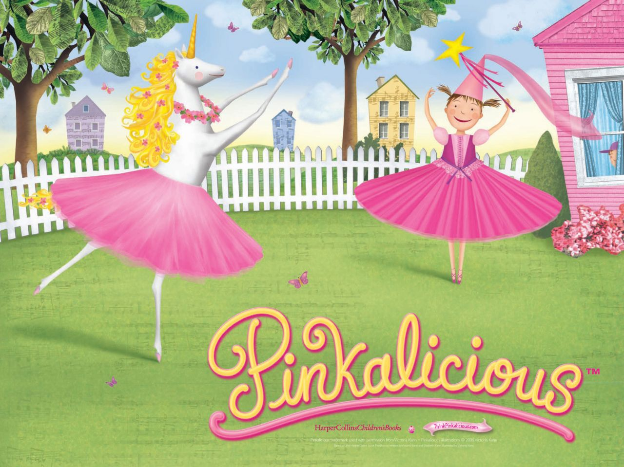 Pinkalious and Goldilicious Illustration