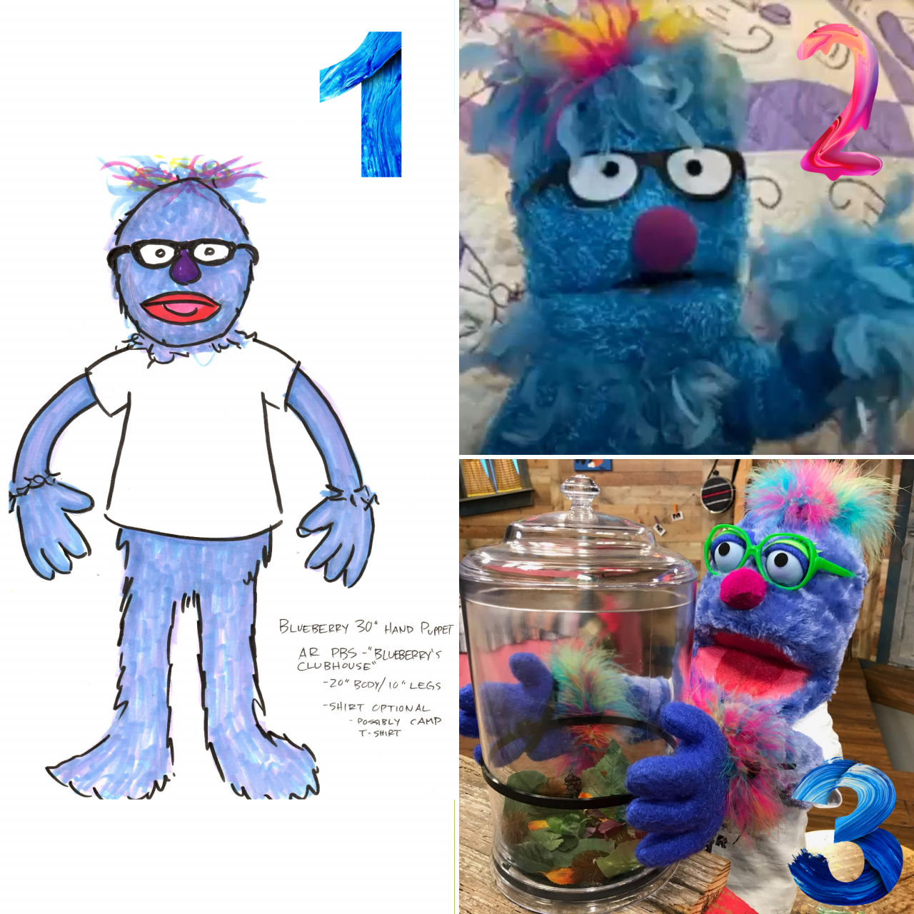 Stages One-Three of Blueberry's design