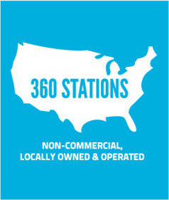 360 Stations, non-commercial, locally owned and operated