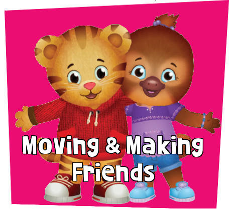 Daniel Tiger hugging friend