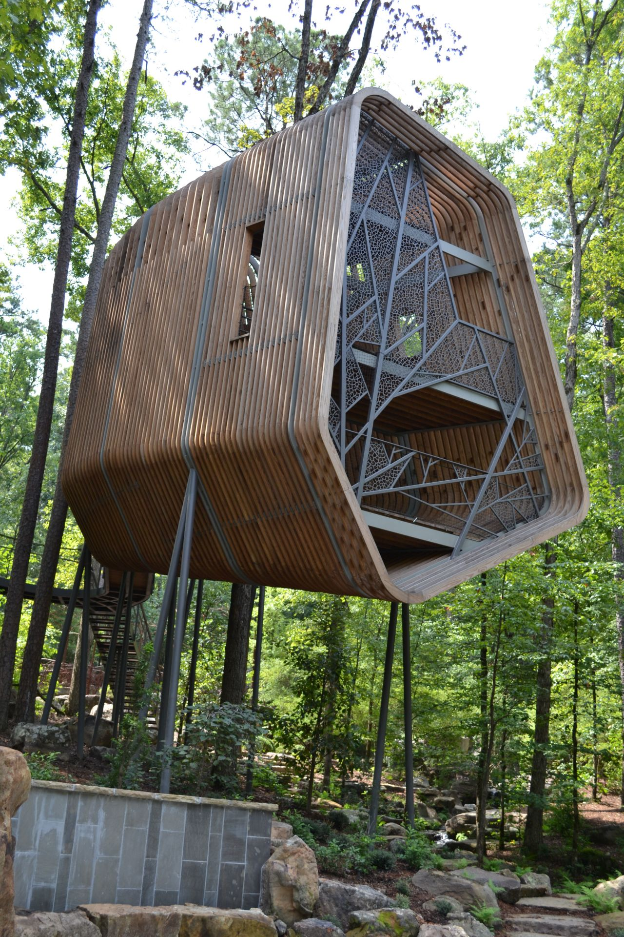 Exploring Arkansas Garvan Woodland Gardens Treehouse