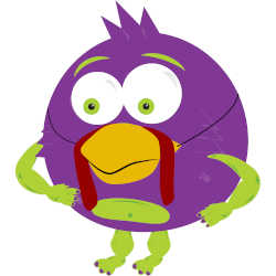 cartoon monster with turkey mask