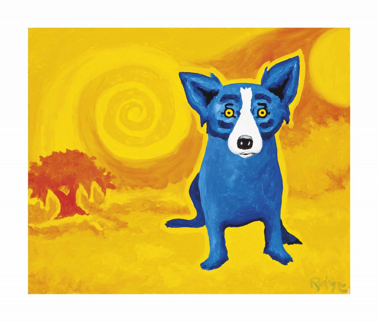 Photo of Blue Dog Artwork