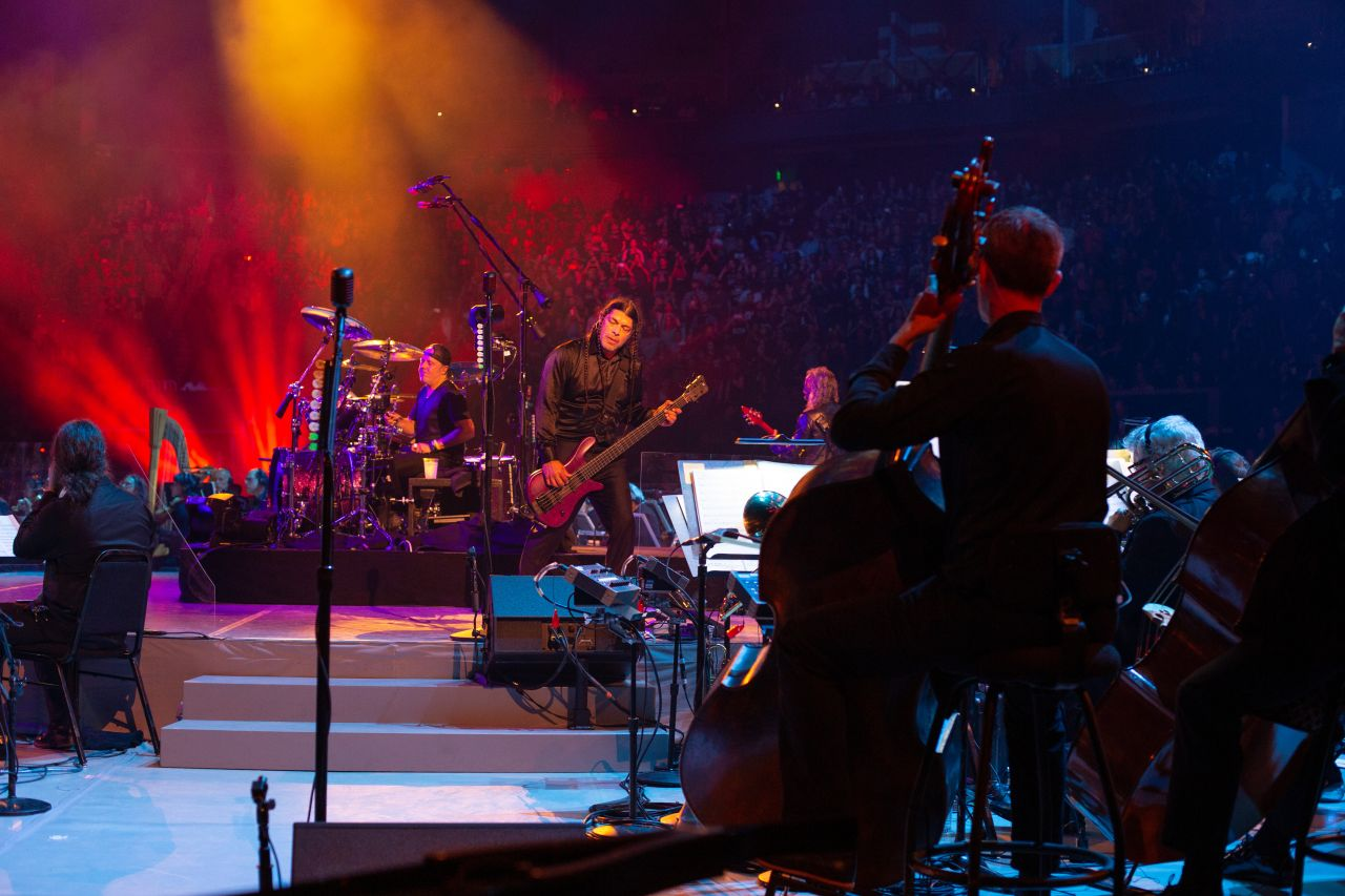 Metallica on stage for Metallica and The San Francisco Symphony: S&M2