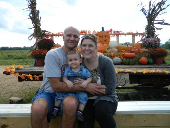 Here we all are together this year at the pumpkin patch.