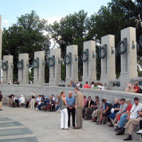 Veterans gathered at the National World War II Memorial in Washington, D.C.