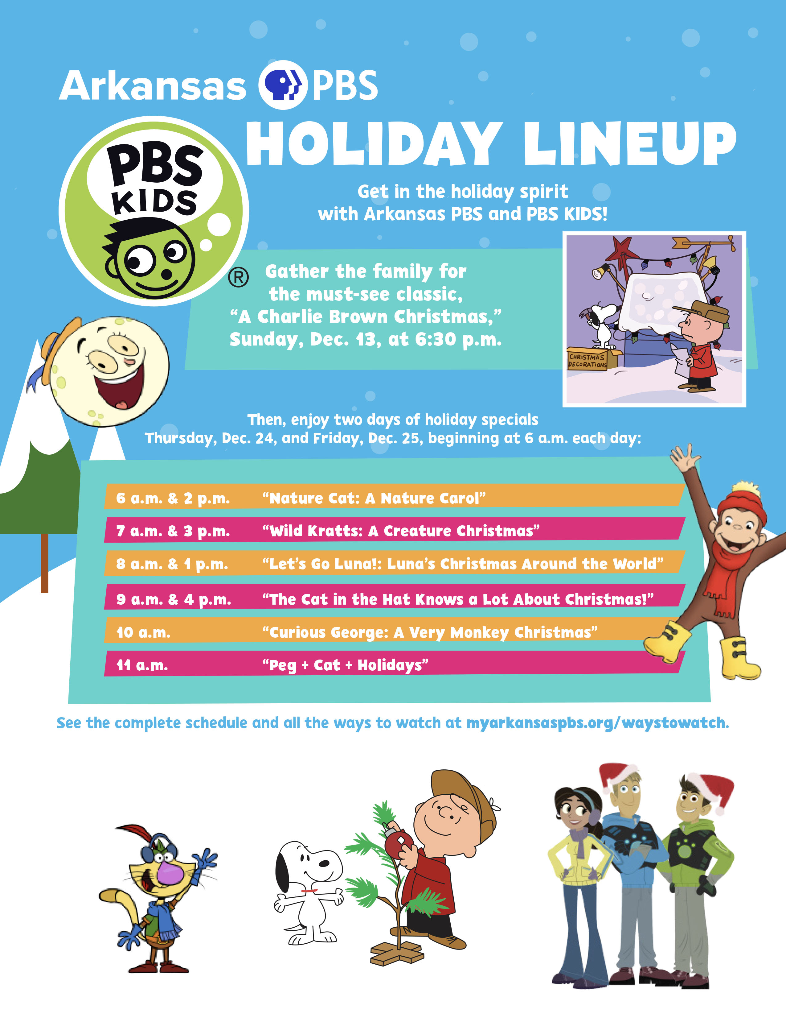 2020 PBS KIDS holiday schedule