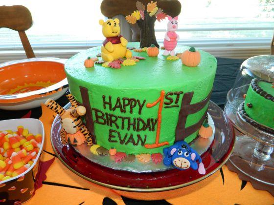 Evan's first birthday cake!