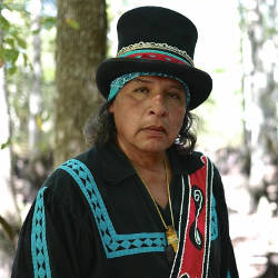 Native American in traditional attire