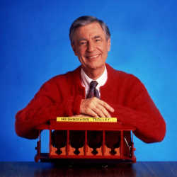 mr rogers with trollie