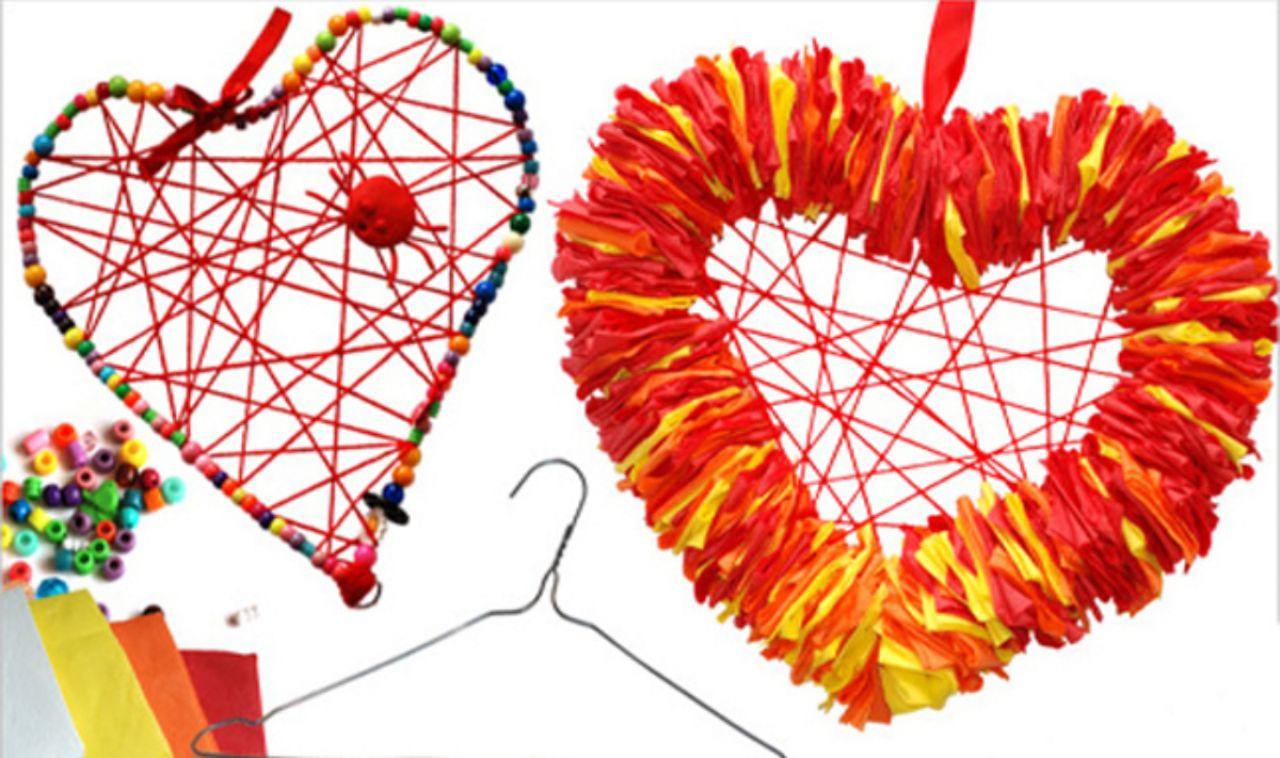 PBS KIDS Heart Wreath Examples
