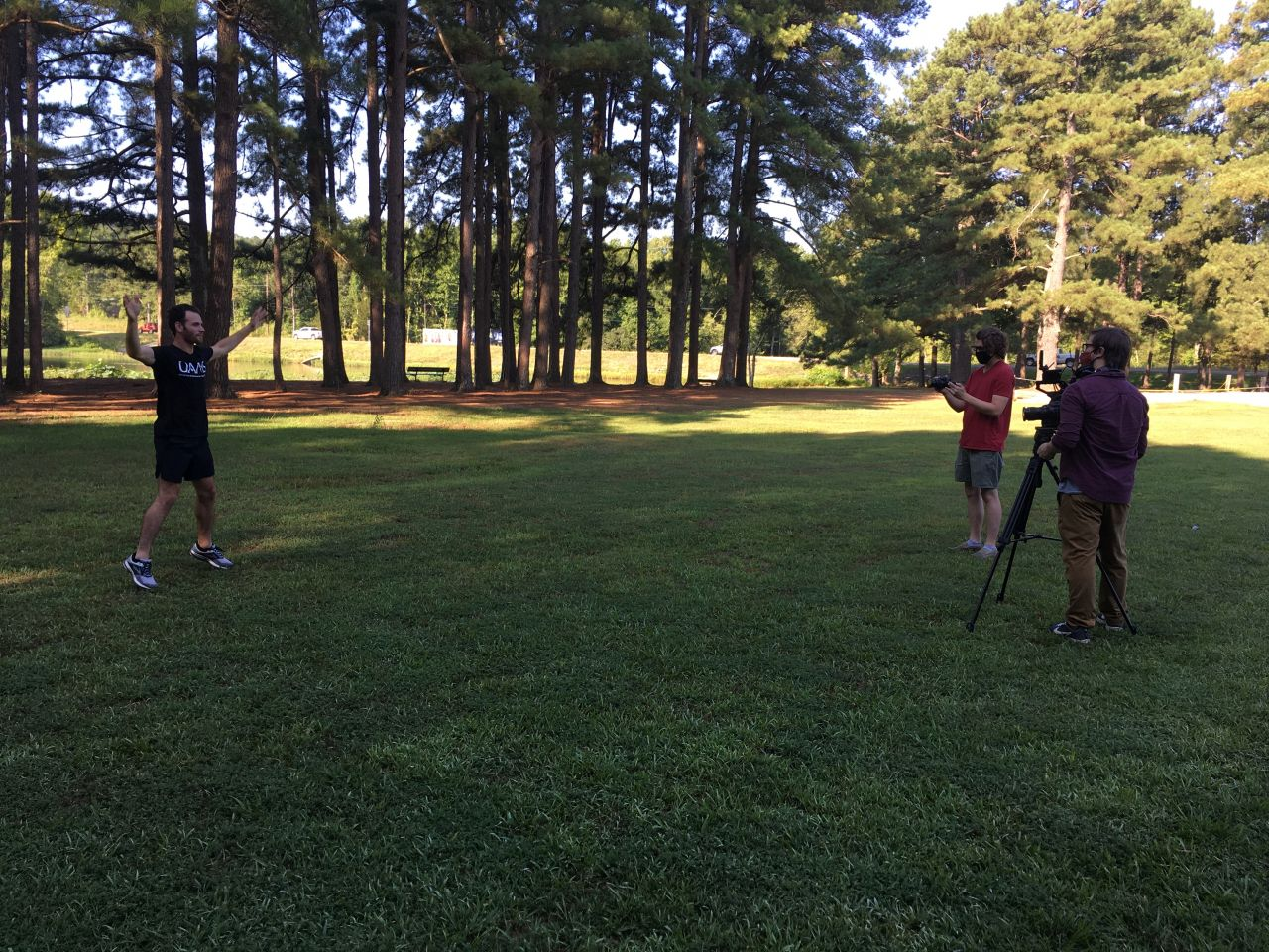 Wide Shot of Crew Filming UAMS STAR segement for Blueberry's Clubhouse