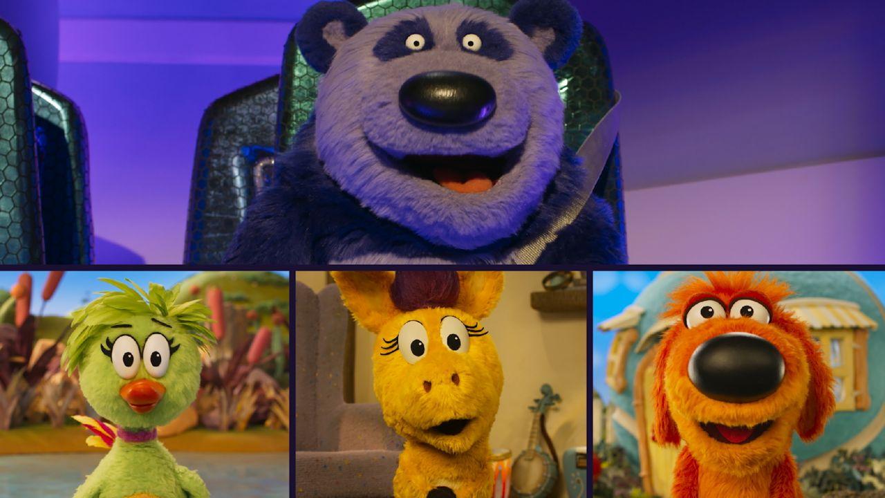 Purple Panda, Duck Duck, Donkey Hodie and Bob Dog