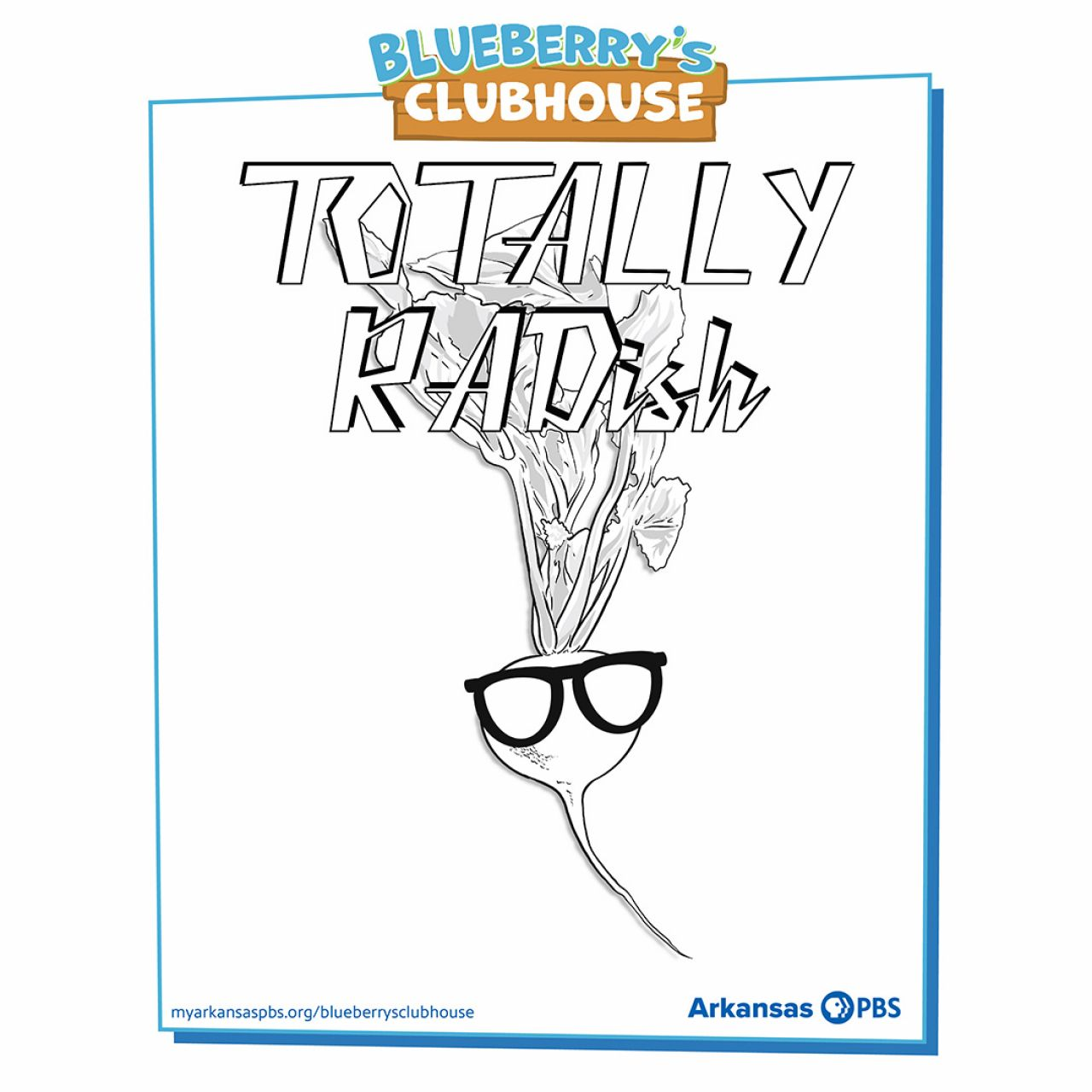Blueberry's Clubhouse Totally Radish Coloring Sheet