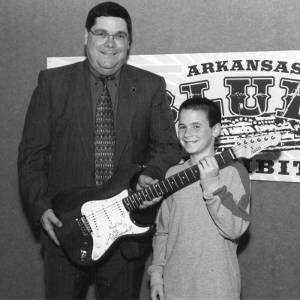 Allen Weatherly with Chase Hickey at Arkansas's Ken Burns Blues Outready event