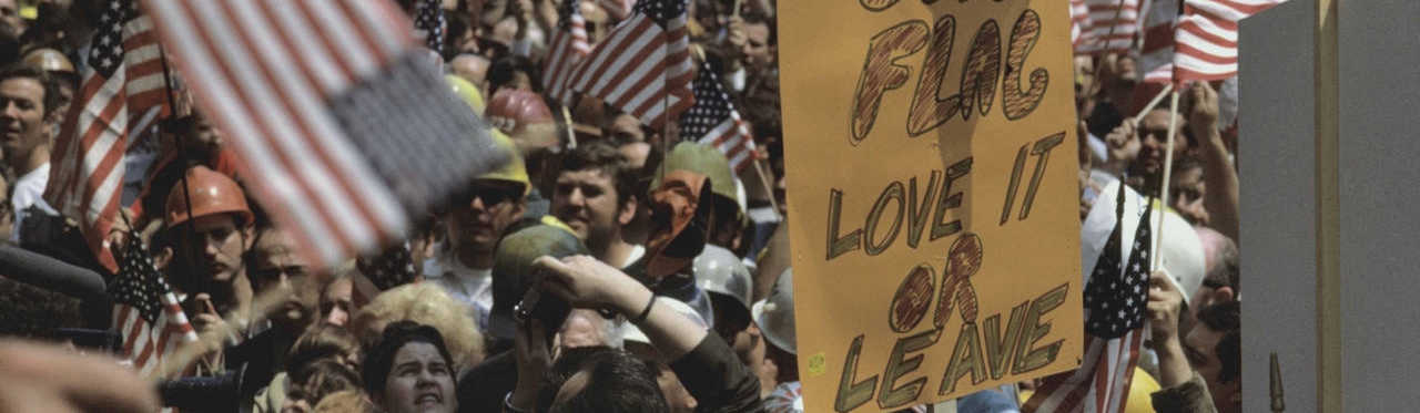 New Yorkers demonstrate in support of the Vietnam War, 1970.