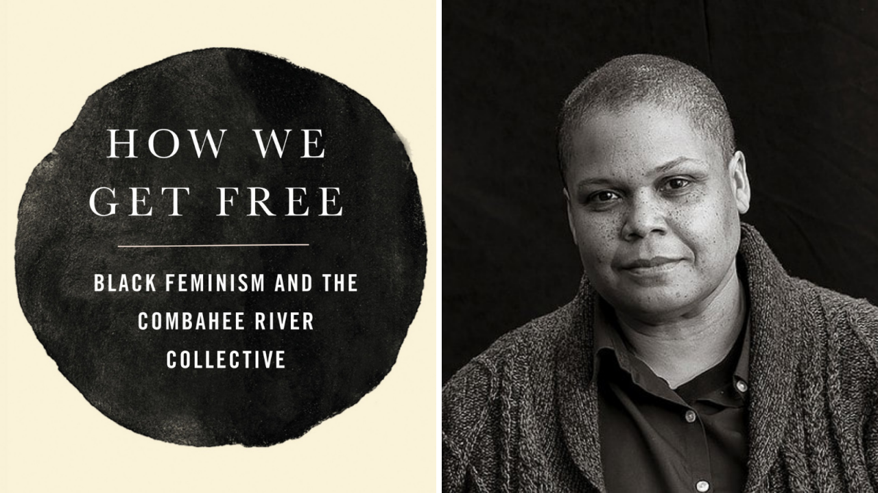 The Combahee River Collective cover and headshot of author Keeanga-Yamahtta Taylor