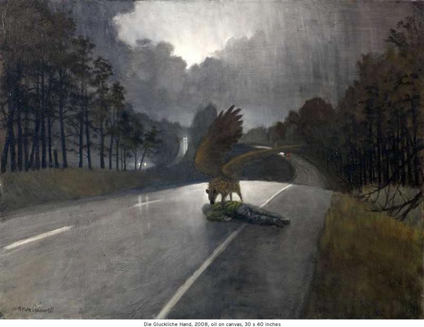 Die Gluckliche Hand, 2008, oil on canvas, 30 x 40 inches
